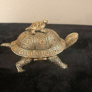 The Bombay Company Brass Turtle And Magnifying Glass