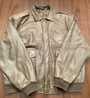 RoundTree and Yorke Brown Mens Leather Jacket Super Nice