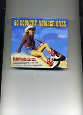 50 COUNTRY NUMBER ONES - JIM REEVES JOHNNY CASH PATSY CLINE - 2 CDS - NEW!!