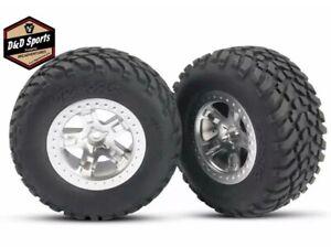 Traxxas 5875 Tires & Wheels Assembled Glued Nitro Slash 2WD