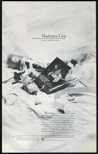 1985 Madonna Live The Virgin Tour video release BIG vintage print ad
