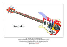 Paul McCartney's 1964 Rickenbacker 4001S Bass Ltd Edition Fine Art Print A3 size