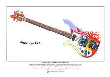 Paul McCartney's 1964 Rickenbacker 4001S Bass Ltd Edition Fine Art Print A3 size