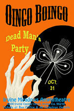 1980's Rock: Oingo Boingo at The Irvine Meadows Concert Poster 1986 12x18