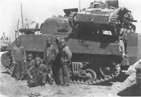 WWII B&W Photo USMC M4 Sherman Japanese Type 94 Namur  WW2 World War Two  /1059
