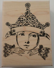 Stampington And Company Wooden Rubber Stamp Winsome Lass Little Boy Hat S7316