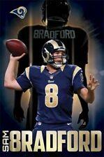 ST LOUIS RAMS ~ SAM BRADFORD ~ FOCUS ~ 22x34 NFL POSTER ~ Quarterback Football