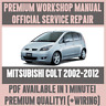 *WORKSHOP MANUAL SERVICE & REPAIR GUIDE for MITSUBISHI COLT 2002-2012 +WIRING