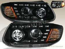 FOR 2007-2012 R8 STYLE  HYUNDAI SANTA FE SE GLS LED PROJECTOR HEADLIGHTS BLACK