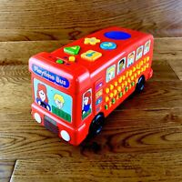 Rare Vintage IQ Builders Toy Playtime Bus Letters Numbers Sounds Push Along FWO