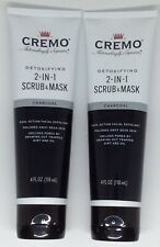 Set of 2 Cremo Charcoal Detoxifying 2-in-1 Scrub & Masks - FS!