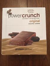 Power Crunch Whey Protein Bars 12 Wafer Bars - Mocha creme - quest, grenade carb