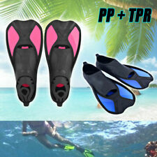 Swimming Fins Adjustable Foot Flippers Submersible Silicone For Kids Adult AY