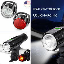 Bike accessories Led light Set USB Rechargeable Water resistance Bicycle Lamp US