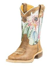 Tin Haul Western Boots Girls Cactus Brown 14-018-0007-0741 Br