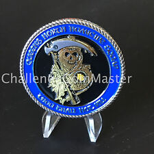 B83 NYPD Gold Queens North Homicide Squad Reaper Skull Police Challenge Coin