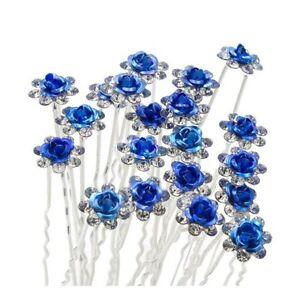 High Quality Elegant Rose Crystal Diamante Wedding Bridal Hair Pins Multilisting