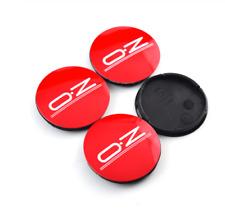 4x55mm OZ Racing Red Rim Caps Hub Caps Wheel Center Caps Badges M582