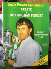Celtic Football Testimonial Fixture Programmes (1980s)
