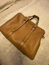 Hugo Boss Mens Briefcase Leather Fantastic Condition