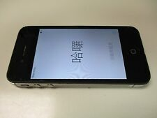Apple iPhone 4 Black Model A1332 TURNS On *Pass-code Locked* Cracked Back *READ*