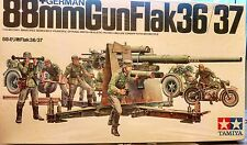GERMAN 88mm GUN FLAK 36/37 WITH ZUNDAPP KS750 MC 1/35 MODEL KIT BY TAMIYA