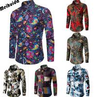 Fashion Men's Shirts Business Slim Fit Tops Long Sleeve Casual Shirt Dress Shirt
