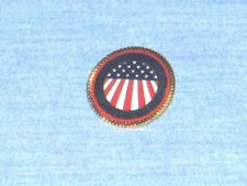 #1622- GOLD TONE FREEDOM PIN FOR HAT OR LAPEL - AMERICAN FLAG - UNITED WE STAND