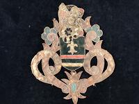 Armoirie Blason Armes XVIII ème Siècle Textile Antique French Blazon 18th