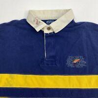Polo Ralph Lauren Fishing Polo Shirt Men's XL Short Sleeve Blue Yellow Cotton