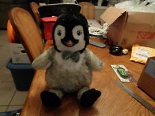 Build A Bear Happy Feet Two Erik Penguin Plush Light Up Bow Tie EUC