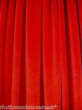 Dance Costume Fabric Red STRETCH VELVET 50cm X 150cm wide