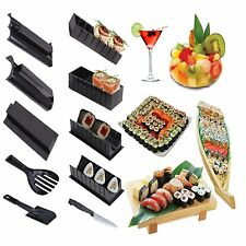Sushi Maker Kit Rice Roll Mold Kitchen DIY Home Made Set Mould Roller Cutter 11P