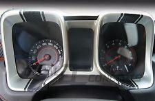 2010-2015 Camaro Carbon Fiber Gauge Bezel Racing Stripe Decal kit - Chevy trim