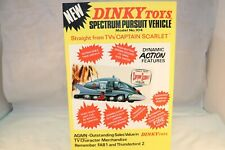 Dinky Toys Poster 104 Spectrum Pursuit Vehicle in very near mint condition