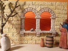 Krippenzubehör, Ruinenbau, Orient -  Doppel - Fensterbogen mit Steine 90 Teile