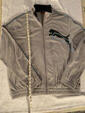 Vintage Puma Mens Xl Gray Track Jacket Full Zip Up Windbreaker 80s 90s