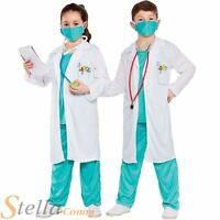 Child Hospital Doctor Nurse Surgeon Scrubs Fancy Dress Costume Boys Girls Outfit