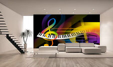 Music Background Wall Mural Photo Wallpaper GIANT DECOR Paper Poster Free Paste