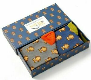 Owl Print  Mens Bamboo Socks Gift Box Perfect Gift 2 Pairs MR HERON