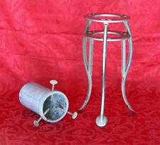 """Vintage Quik Ezy 16"""" Collapsible Aluminum Christmas Holiday Tree Stand"""