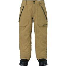 NEW! $265 Burton Gore-Tex Stark Kelp Khaki Snow Ski Snowboard Pants Boys Medium
