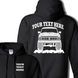 FORD F150 F250 F350 Truck 4x4- 1973-1977 PERSONALIZED HOODIE PULLOVER - #HOR002