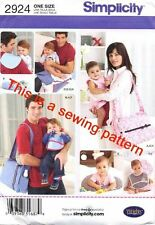 SIMPLICITY SEWING PATTERN 2924 BABY NAPPY BAG CHANGE MAT, TUMMY PILLOW WIPES BAG