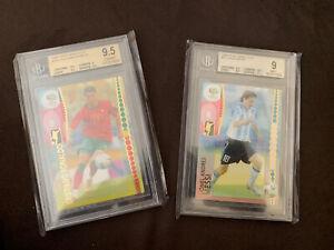 Lionel Messi Cristiano Ronaldo Panini 2006 World Cup Rookie Card 169 47 BGS 9.5