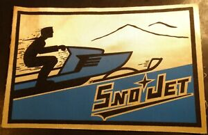 """N.O.S VINTAGE EARLY SNO JET LARGE BACK PATCH 10 1/2"""" X 7"""" VERY RARE (531)"""
