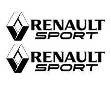 Kit de 2 Sticker Logo + RENAULT SPORT  Couleur NOIR Clio GT 1 2 3 4