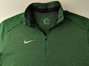 NEW Nike Coaches 1/2 Zip Top Men M Gorge Green Pullover Dri Fit Long Sleeve