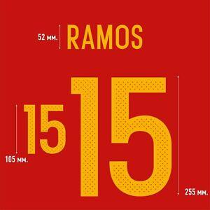 Ramos 15. Spain Home football shirt 2016 - 2017 FLEX NAMESET NAME SET PRINT