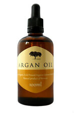 ARGAN OIL (100% Pure and Organic) 100ML 50ML Moisturiser - Skin, Hair and Nails